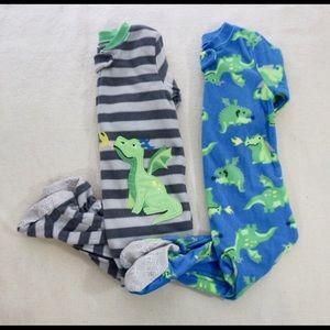 Dragon Fleece Footed Pajamas Bundle
